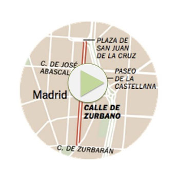 calle zurbano map