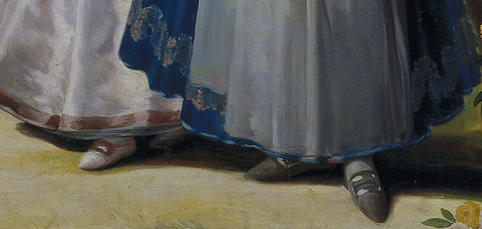 shoes in goya paintings